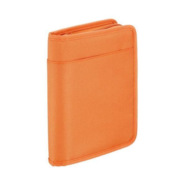 (まとめ) キングジム スキットマン 通帳&カード収納ケース A5 オレンジ 2360 1個 〔×5セット〕