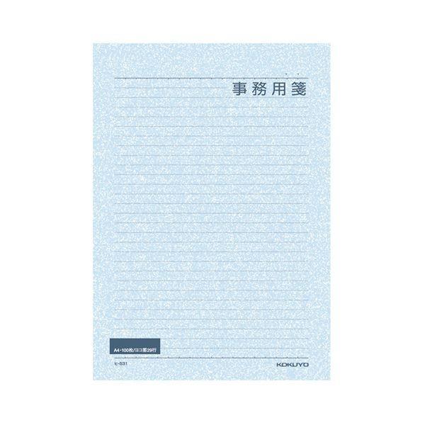 (まとめ) コクヨ 便箋事務用 A4 横罫 29行100枚 ヒ-531 1セット(5冊) 〔×5セット〕
