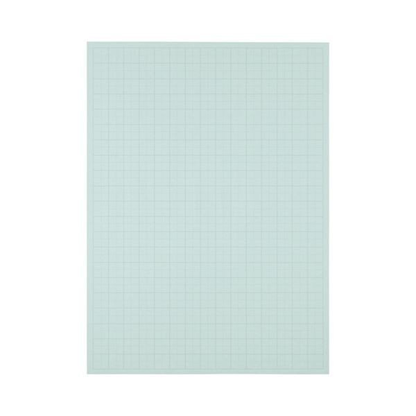 (まとめ) TANOSEE 模造紙(プルタイプ) 本体 788×1085mm 50mm方眼 ブルー 1ケース(20枚) 〔×10セット〕