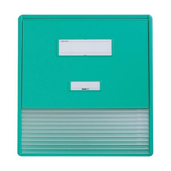 リヒトラブ カラーカードインデックスA3(A4タテ2面)11ポケット グリーン HC113C-3 1冊