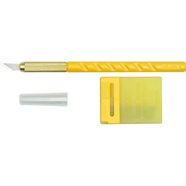 (まとめ)オルファ アートナイフ 替刃25枚付〔×10セット〕