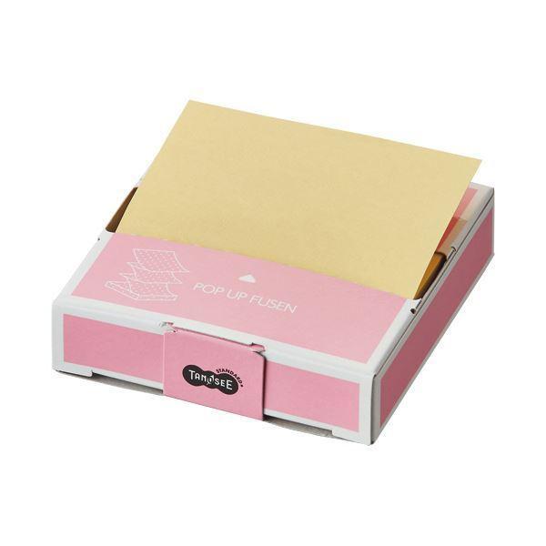 (まとめ)TANOSEE ポップアップふせん 紙箱付 75×75mm 1冊 〔×30セット〕