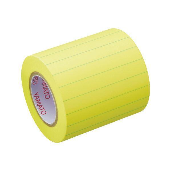 (まとめ)ヤマト メモック ロールテープ(ノート)蛍光紙 罫線入 つめかえ用 50mm幅 レモン NRK-50H-LK 1巻 〔×30セット〕