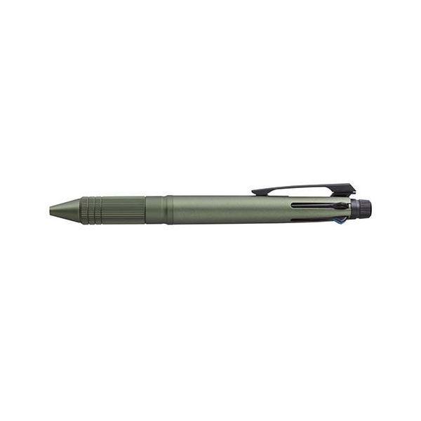 (まとめ) 三菱鉛筆 ジェットストリーム4&1 メタル 4色ボールペン0.5mm(黒・赤・青・緑)+シャープ0.5mm ダークグリーン 〔×3セット〕