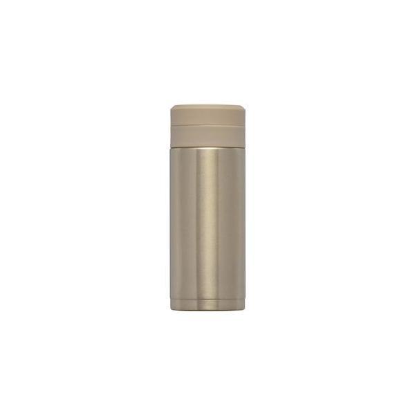 〔30個セット〕 スリム 水筒/ステンレスボトル 〔200ml ゴールド〕 スクリュー栓 真空断熱構造 抗菌剤プラス オミット