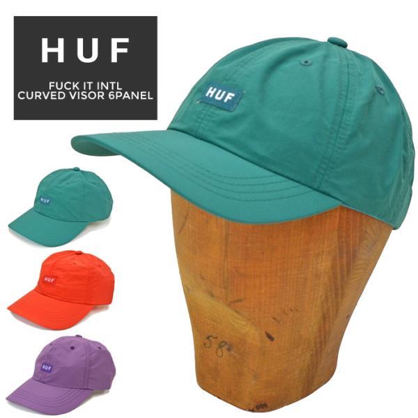 HUFハフキャップFUCKITINTLCV6-PANELCAP帽子ストラップバックキャップ6パネルキャップHT00528