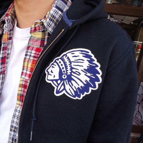 チャンピオン Champion BUDDY 別注 オールメルトン インディアン ジップジャケット コーチジャケット アメカジ|buddy-us-clothing|03