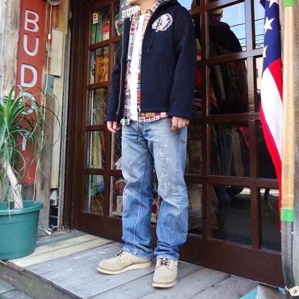 チャンピオン Champion BUDDY 別注 オールメルトン インディアン ジップジャケット コーチジャケット アメカジ|buddy-us-clothing|06