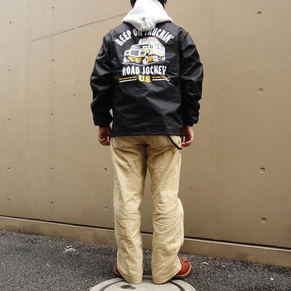 コーチジャケット BUDDY オリジナル KEEP ON TRUCKIN' ブラッ ク ウィンドブレーカー コンボイ トラッカー U.S.A. Kenworth Peterbilt 企業 SPRINGFORD|buddy-us-clothing|06