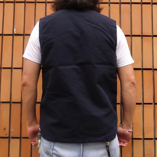 カーハート サンドストーン ベスト ミッドナイト ネイビー Carhartt V02 Sandstone Vest Quilt-Lined V02MDT アメカジ|buddy-us-clothing|02