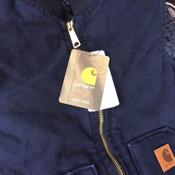 カーハート サンドストーン ベスト ミッドナイト ネイビー Carhartt V02 Sandstone Vest Quilt-Lined V02MDT アメカジ|buddy-us-clothing|03