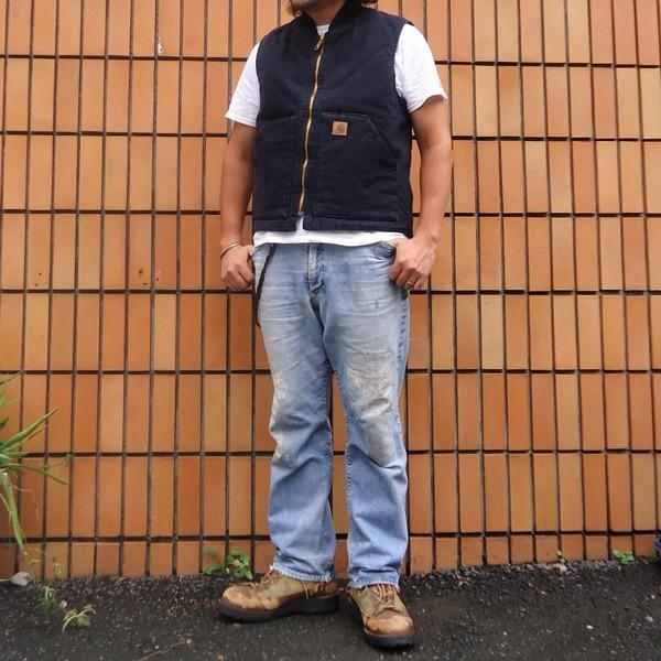 カーハート サンドストーン ベスト ミッドナイト ネイビー Carhartt V02 Sandstone Vest Quilt-Lined V02MDT アメカジ|buddy-us-clothing|04