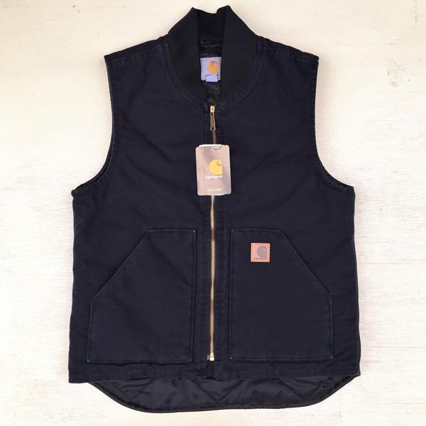 カーハート サンドストーン ベスト ミッドナイト ネイビー Carhartt V02 Sandstone Vest Quilt-Lined V02MDT アメカジ|buddy-us-clothing|05