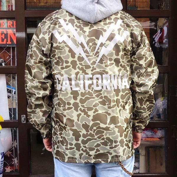 コーチジャケット カリフォルニア ライトニング CALIFORNIA LIGHTNING ダックハンターカモ リフレクター シート ウィンドブレーカー USA|buddy-us-clothing|02