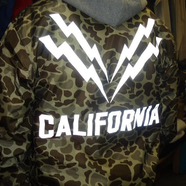 コーチジャケット カリフォルニア ライトニング CALIFORNIA LIGHTNING ダックハンターカモ リフレクター シート ウィンドブレーカー USA|buddy-us-clothing|04