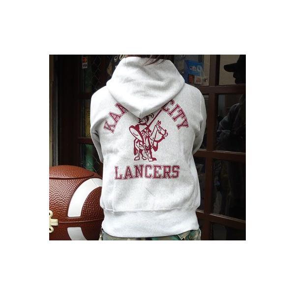 チャンピオン Champion BUDDY 別注 リバースウィーブ フルジップパーカー(KC LANCERS) アメカジ トレーナー|buddy-us-clothing|02