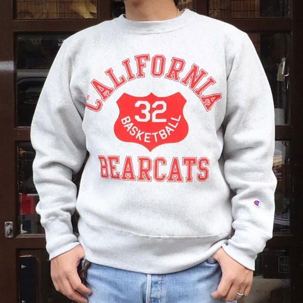 チャンピオン Champion BUDDY 別注 リバースウィーブ クルースエット(BEARCATS) トレーナー 丸首 アメカジ|buddy-us-clothing