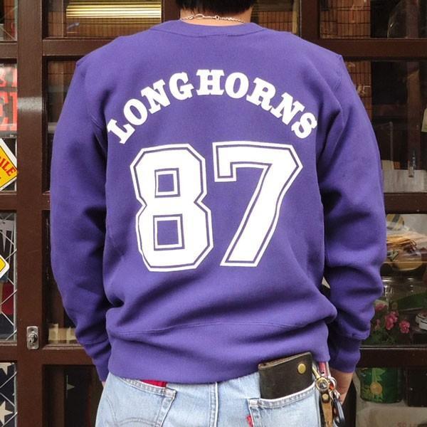 チャンピオン Champion BUDDY 別注 リバースウィーブ クルースエット(LONGHORNS) トレーナー 丸首 アメカジ buddy-us-clothing 02