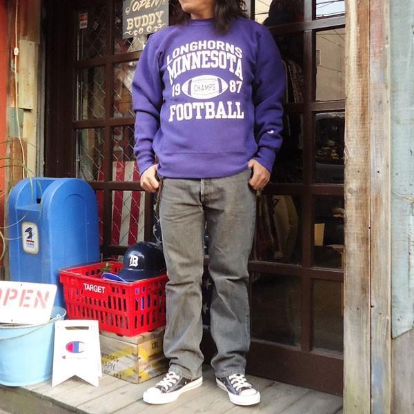 チャンピオン Champion BUDDY 別注 リバースウィーブ クルースエット(LONGHORNS) トレーナー 丸首 アメカジ buddy-us-clothing 05