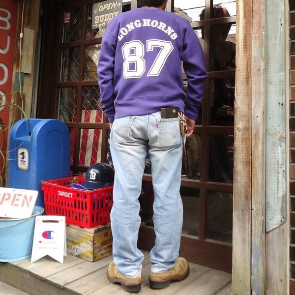 チャンピオン Champion BUDDY 別注 リバースウィーブ クルースエット(LONGHORNS) トレーナー 丸首 アメカジ buddy-us-clothing 06