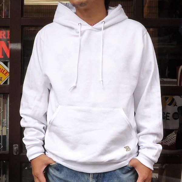 ラッセル ジャージーズバディ BUDDY×JERZEES プルオーバーパーカー ホワイト・ブラック・グレー・ネイビー RUSSELL メンズ アメカジ|buddy-us-clothing|02