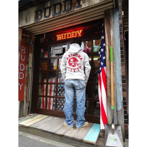 チャンピオン Champion BUDDY 別注 リバースウィーブ プルオーバーパーカー(ARIZONA-CITY)C3-W102 青タグ 11.5oz スウェットパーカー 裏起毛  アメカジ|buddy-us-clothing|05