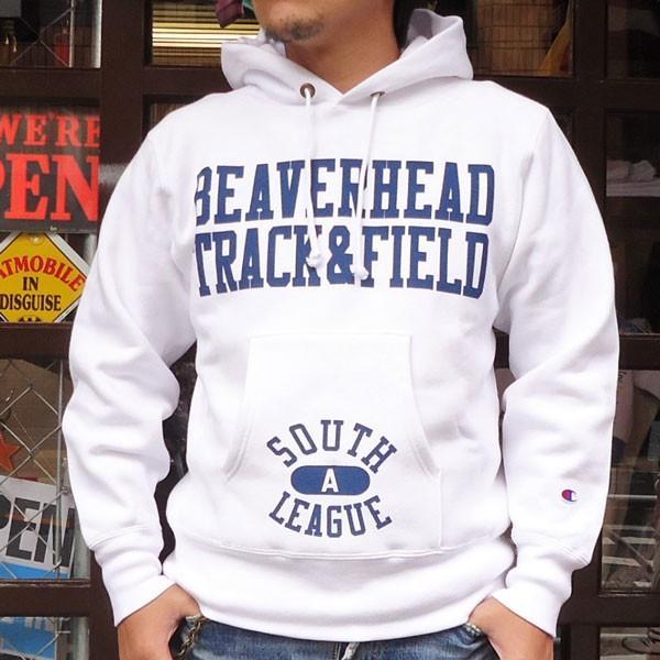 チャンピオン Champion BUDDY別注 リバースウィーブ プルオーバーパーカー(BEAVERHEAD)C3-W102 青タグ スウェットパーカー 裏起毛 アメカジ|buddy-us-clothing