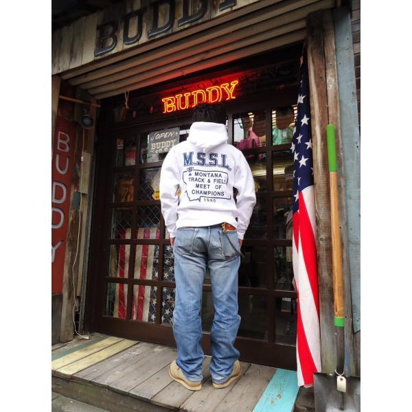 チャンピオン Champion BUDDY別注 リバースウィーブ プルオーバーパーカー(BEAVERHEAD)C3-W102 青タグ スウェットパーカー 裏起毛 アメカジ|buddy-us-clothing|05