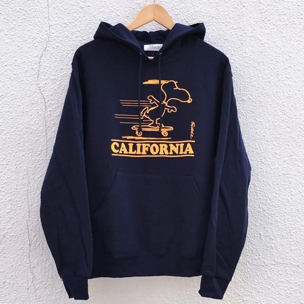 スヌーピー PEANUTS プルオーバーパーカー SNOOPY CALIFORNIA BUDDY 別注 スウェットパーカー 裏起毛 アメカジ カリフォルニア ピーナッツ Schulz|buddy-us-clothing|02
