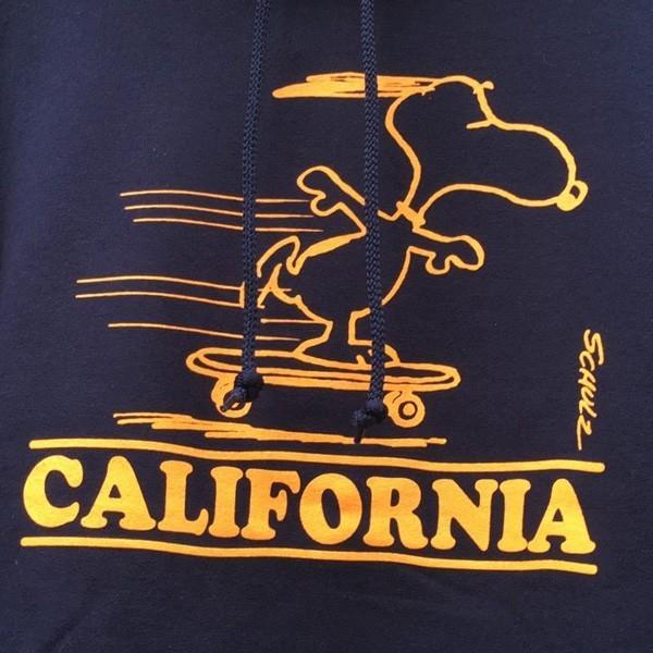 スヌーピー PEANUTS プルオーバーパーカー SNOOPY CALIFORNIA BUDDY 別注 スウェットパーカー 裏起毛 アメカジ カリフォルニア ピーナッツ Schulz|buddy-us-clothing|04