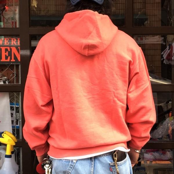 フルーツ・オブ・ザ・ルーム FRUIT OF THE LOOM フルーツ染め プルオーバーパーカー ストロベリー スウェットパーカー 裏起毛 アメカジ 赤|buddy-us-clothing|04