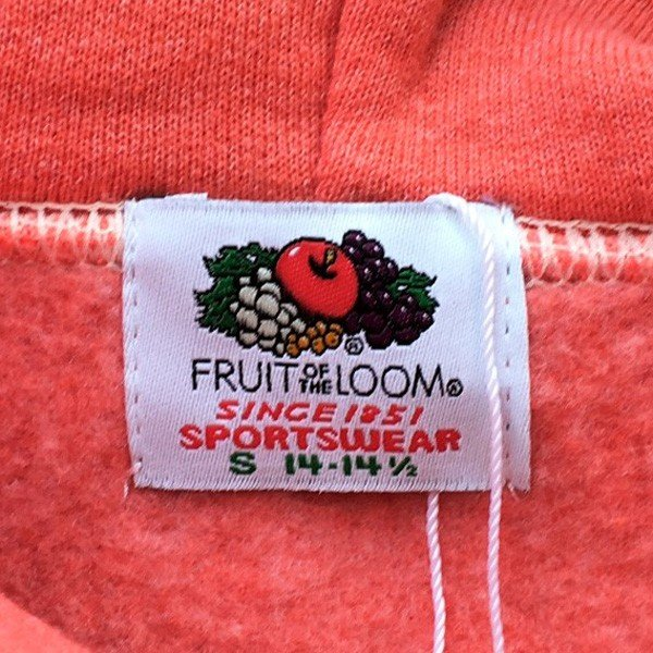 フルーツ・オブ・ザ・ルーム FRUIT OF THE LOOM フルーツ染め プルオーバーパーカー ストロベリー スウェットパーカー 裏起毛 アメカジ 赤|buddy-us-clothing|05