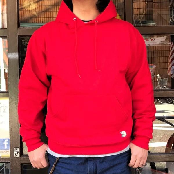 ラッセル ジャージーズ プルオーバーパーカー バディ BUDDY×JERZEES 赤 RED RUSSELL メンズ アメカジ|buddy-us-clothing