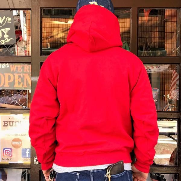 ラッセル ジャージーズ プルオーバーパーカー バディ BUDDY×JERZEES 赤 RED RUSSELL メンズ アメカジ|buddy-us-clothing|02
