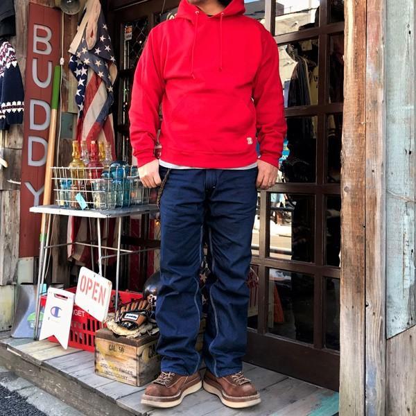 ラッセル ジャージーズ プルオーバーパーカー バディ BUDDY×JERZEES 赤 RED RUSSELL メンズ アメカジ|buddy-us-clothing|05