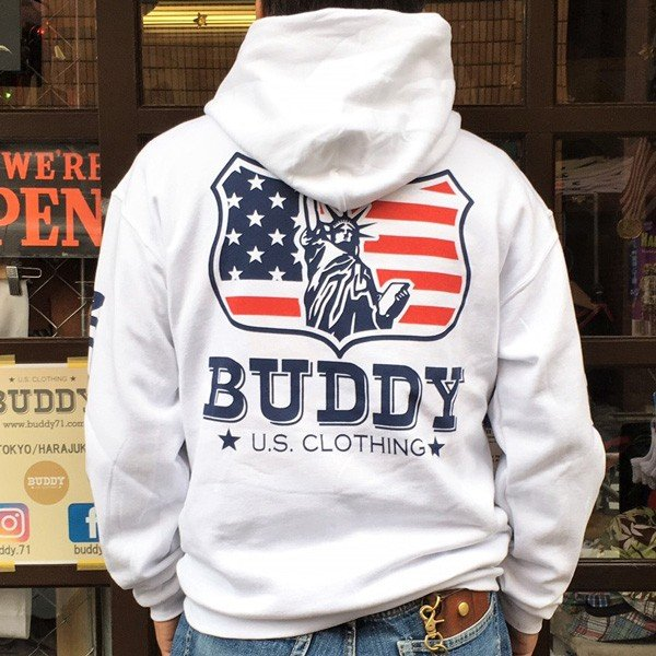 ラッセル ジャージーズ プルオーバーパーカー BUDDY×JERZEES Indian Statue of Liberty RUSSELL アメカジ NEW YORK ニューヨーク 自由の女神 インディアン|buddy-us-clothing|02