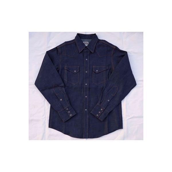 デニムウェスタンシャツ BUDDY オリジナル SPRINGFORD アメカジ メンズ 長袖 ワークシャツ DENIM WESTERN SHIRTS|buddy-us-clothing|02