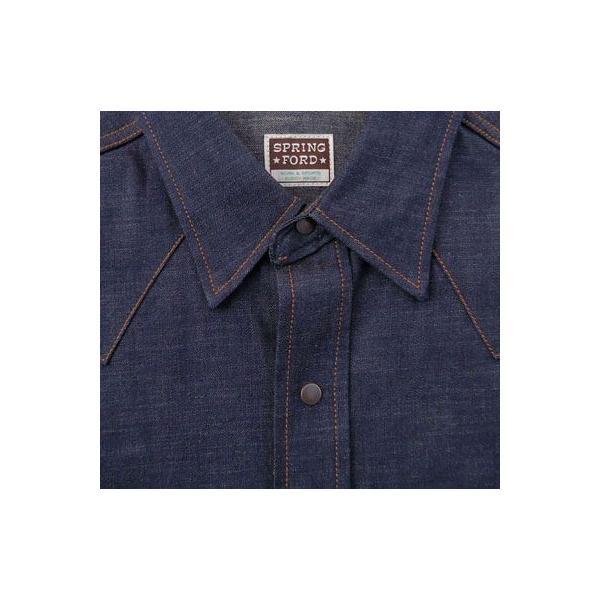 デニムウェスタンシャツ BUDDY オリジナル SPRINGFORD アメカジ メンズ 長袖 ワークシャツ DENIM WESTERN SHIRTS|buddy-us-clothing|03