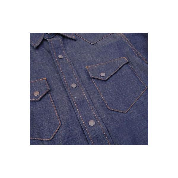 デニムウェスタンシャツ BUDDY オリジナル SPRINGFORD アメカジ メンズ 長袖 ワークシャツ DENIM WESTERN SHIRTS|buddy-us-clothing|04