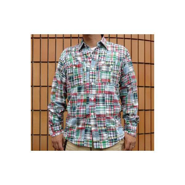 パッチワークシャツ BUDDY オリジナル SPRINGFORD アメカジ メンズ 長袖 PATCH WORK SHIRTS|buddy-us-clothing