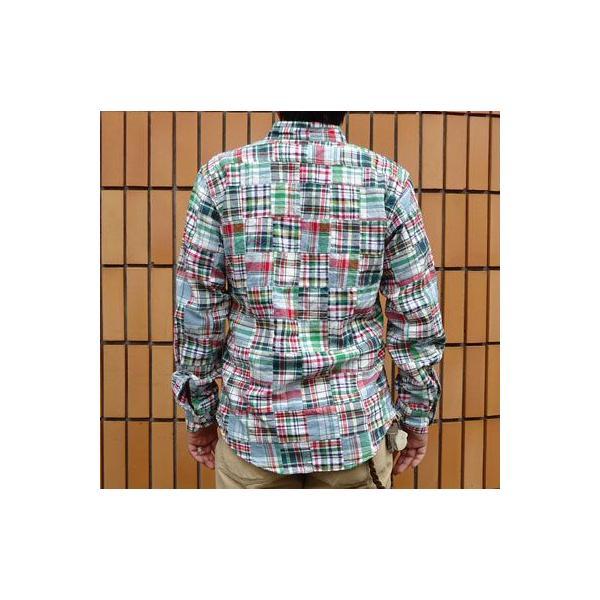 パッチワークシャツ BUDDY オリジナル SPRINGFORD アメカジ メンズ 長袖 PATCH WORK SHIRTS|buddy-us-clothing|02