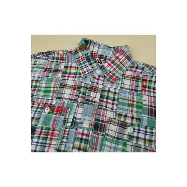 パッチワークシャツ BUDDY オリジナル SPRINGFORD アメカジ メンズ 長袖 PATCH WORK SHIRTS|buddy-us-clothing|03