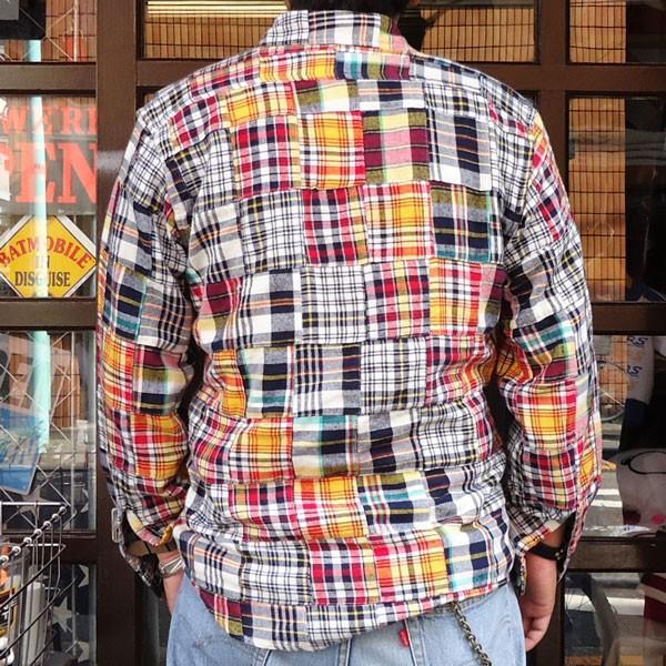 パッチワークネルシャツ BUDDY オリジナル SPRINGFORD マルチカラー アメカジ メンズ 長袖 Patch Work Flannel shirt|buddy-us-clothing|02