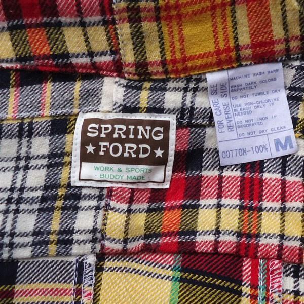 パッチワークネルシャツ BUDDY オリジナル SPRINGFORD マルチカラー アメカジ メンズ 長袖 Patch Work Flannel shirt|buddy-us-clothing|04