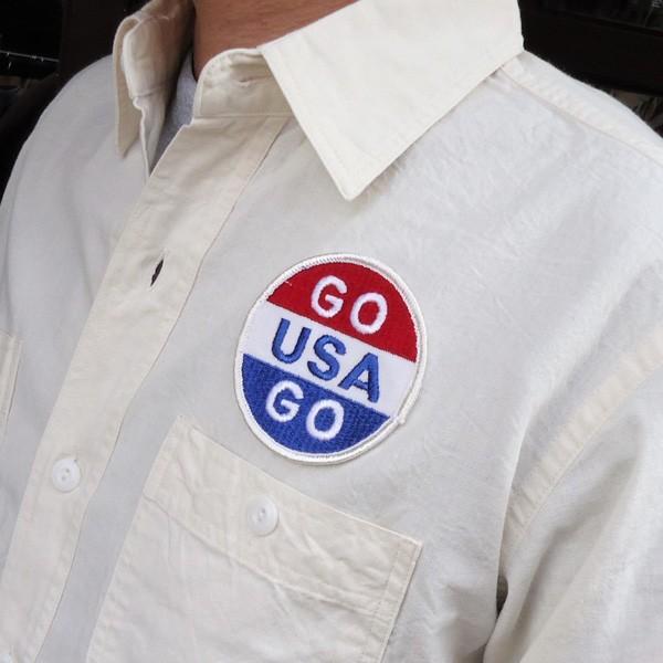 シャンブレーシャツ オフホワイト バックプリント BUDDYオリジナル SPRINGFORD アメカジ メンズ ワークシャツ CHAMBRAY SHIRT GO USA|buddy-us-clothing|04