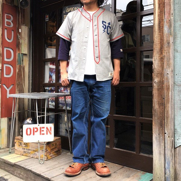 ベースボール ユニフォーム シャツ BUDDY オリジナル SPRINGFORD 半袖 シャツ SANTACRUZ EAGLES BASEBALL サンタクルーズ イーグルス アメカジ buddy-us-clothing 10