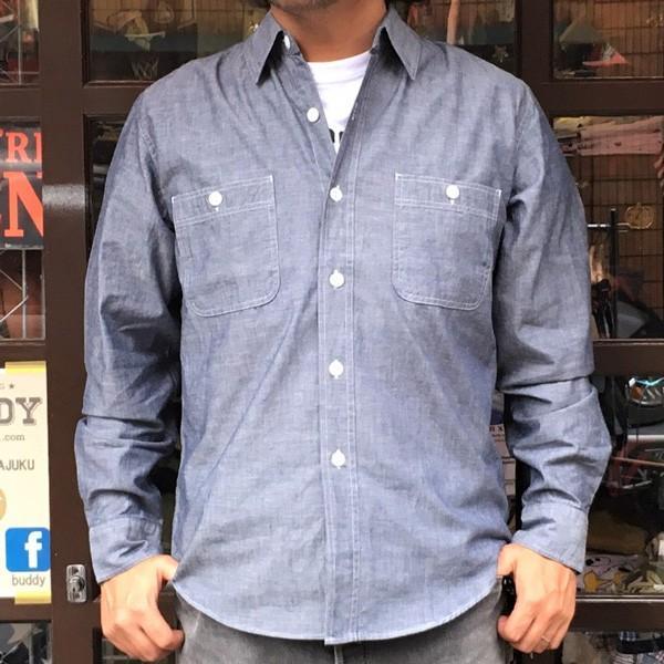 シャンブレーシャツ ネイビー BUDDY オリジナル SPRINGFORD アメカジ メンズ 長袖 ワークシャツ NAVY CHAMBRAY SHIRTS buddy-us-clothing