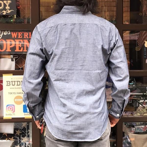 シャンブレーシャツ ネイビー BUDDY オリジナル SPRINGFORD アメカジ メンズ 長袖 ワークシャツ NAVY CHAMBRAY SHIRTS buddy-us-clothing 02