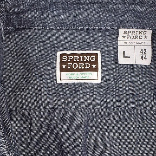 シャンブレーシャツ ネイビー BUDDY オリジナル SPRINGFORD アメカジ メンズ 長袖 ワークシャツ NAVY CHAMBRAY SHIRTS buddy-us-clothing 04