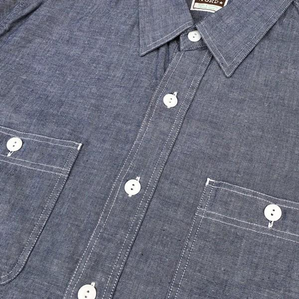 シャンブレーシャツ ネイビー BUDDY オリジナル SPRINGFORD アメカジ メンズ 長袖 ワークシャツ NAVY CHAMBRAY SHIRTS buddy-us-clothing 05